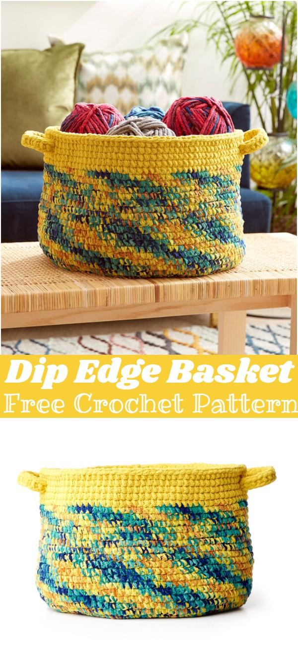 Crochet Dip Edge Basket