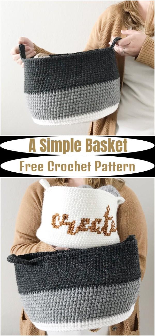 Free Crochet A Simple Basket Pattern