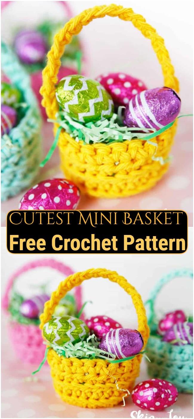 Free Crochet Cutest Mini Basket Pattern