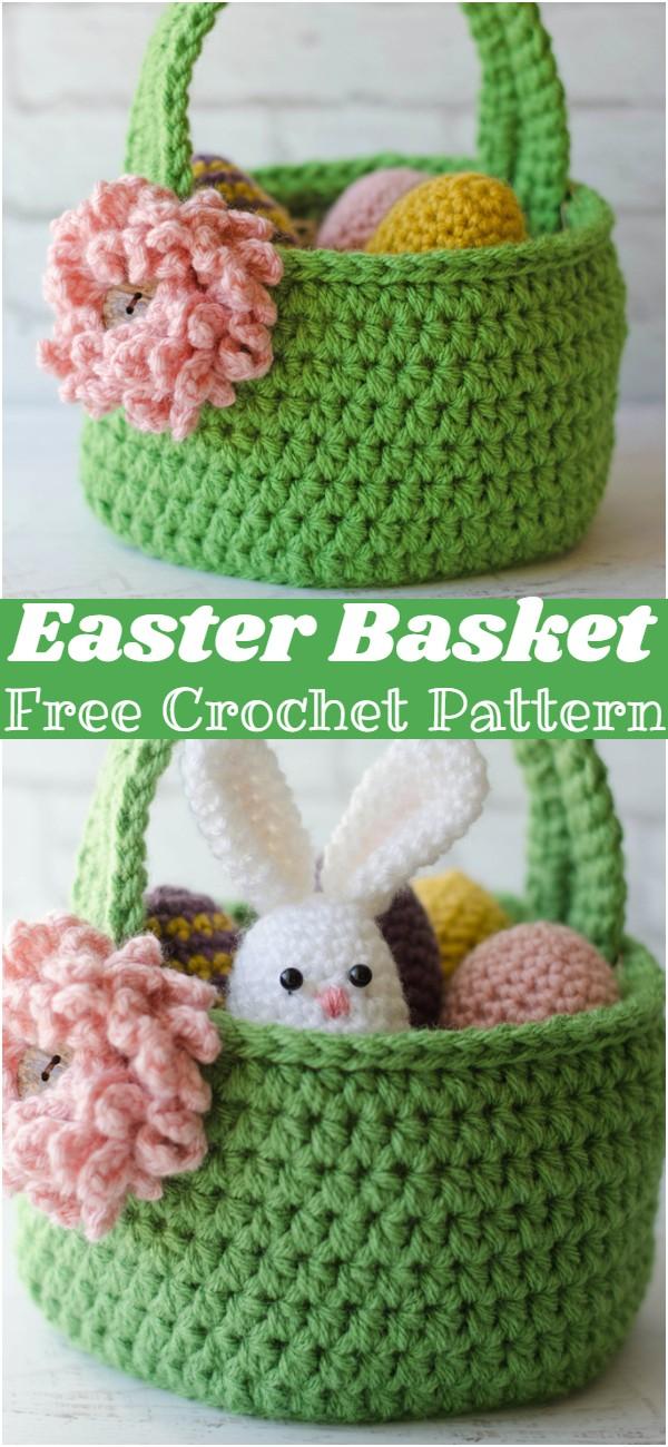 Free Crochet Easter Basket Pattern