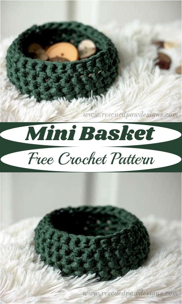 Free Crochet Mini Basket