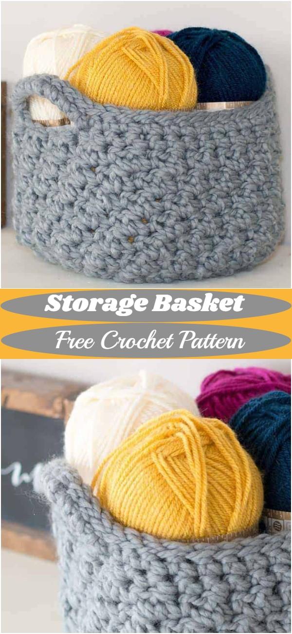 Free Crochet Storage Basket Pattern