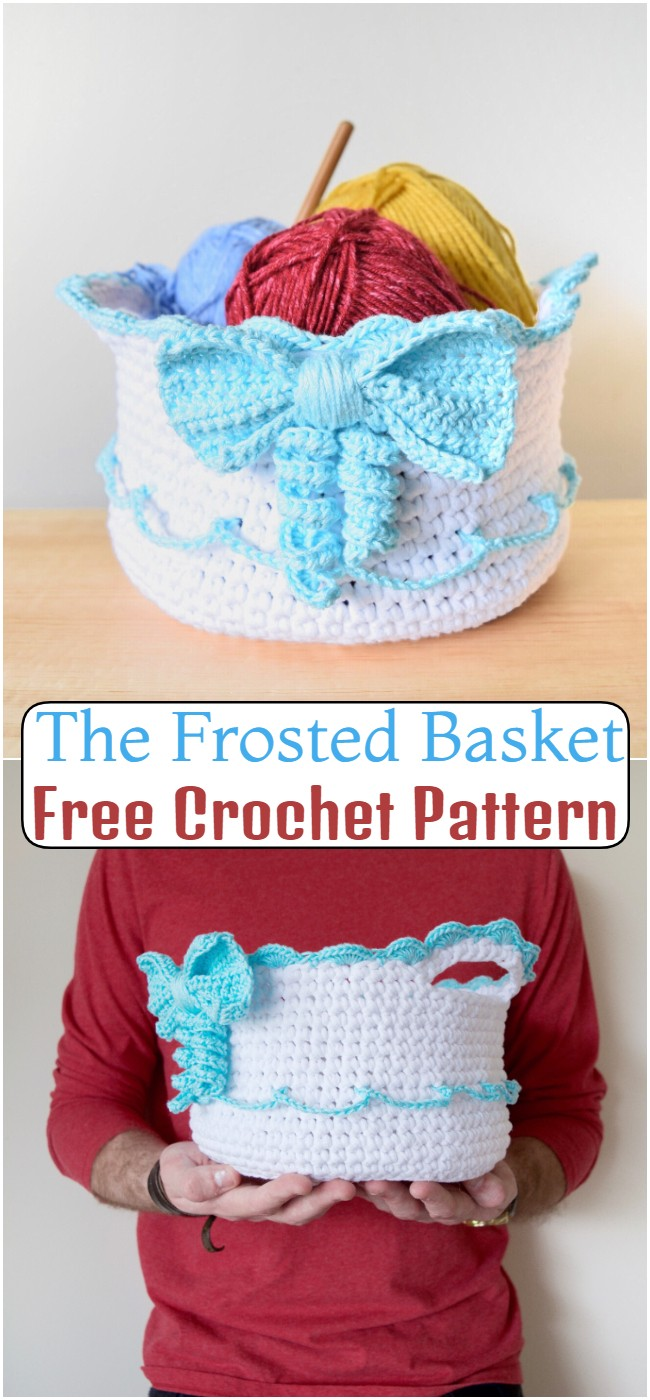 Free Crochet The Frosted Basket Pattern