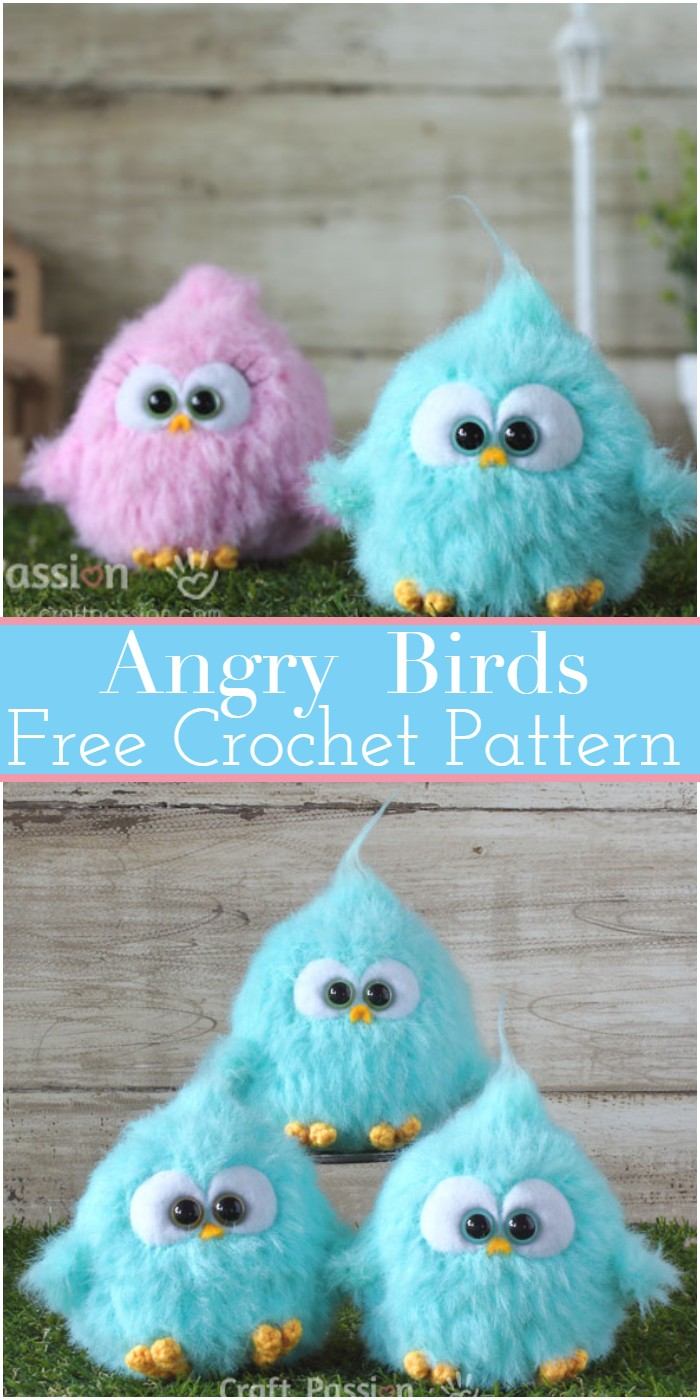 Angry Birds Crochet Birds Patterns