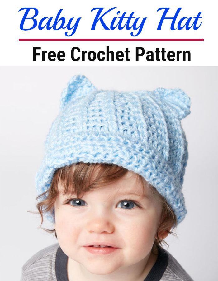 Baby Crochet Kitty Hat