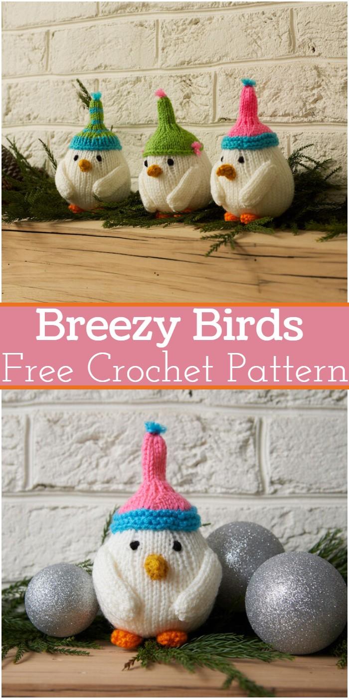 Breezy Crochet Birds Patterns