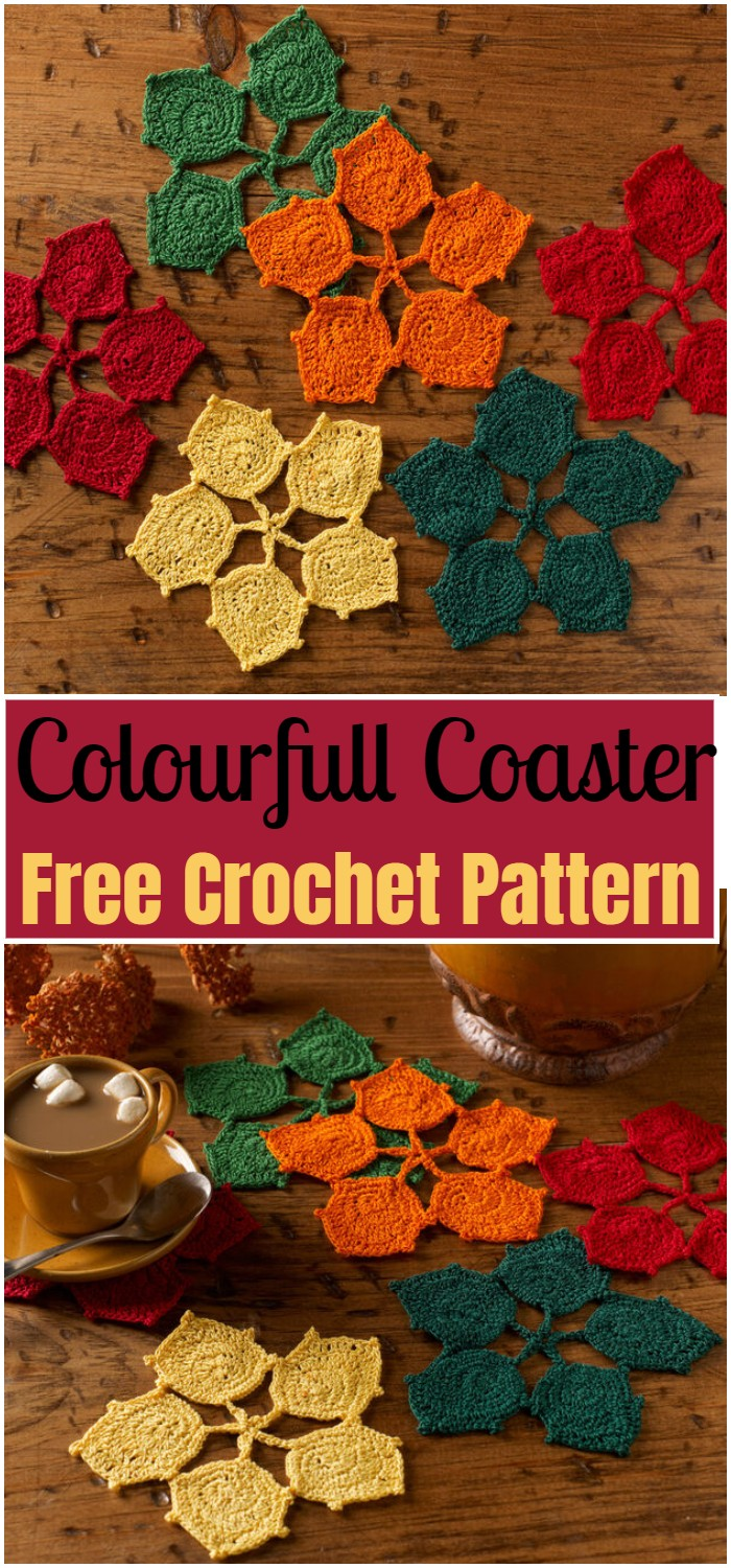 Colourfull Crochet Coaster