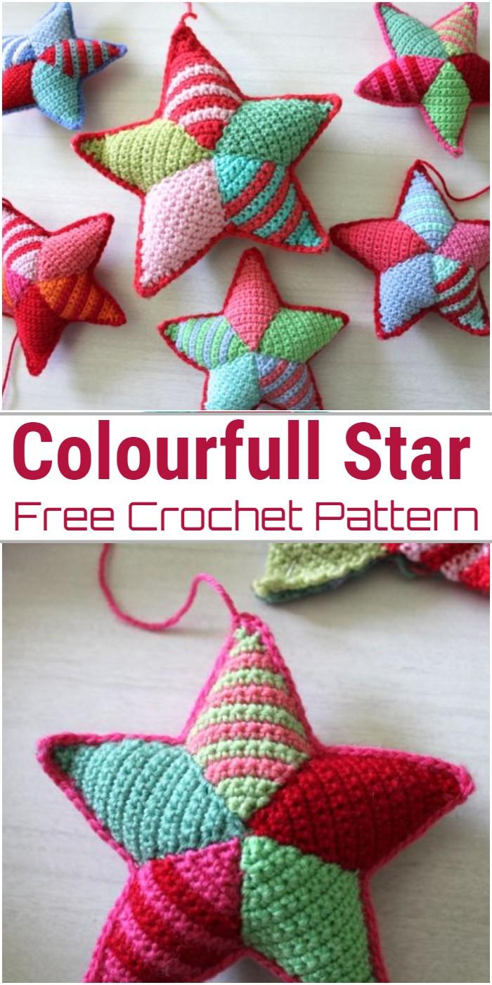 Colourfull Star Crochet Pattern
