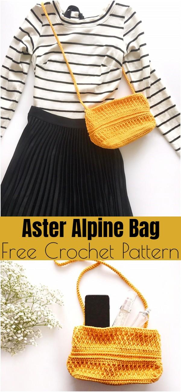 Crochet Aster Alpine Bag Pattern