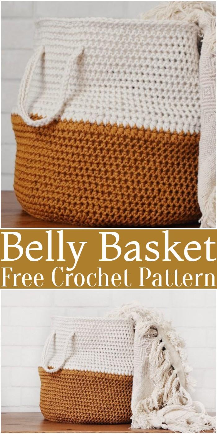 Crochet Belly Basket Pattern