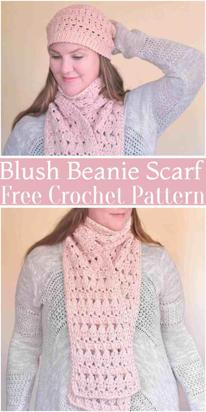 Crochet Blush Beanie Scarf Pattern