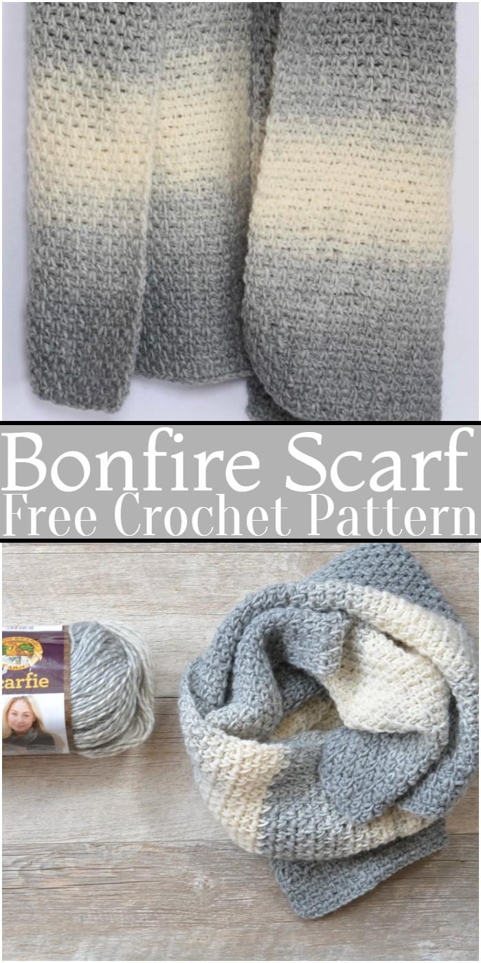 Crochet Bonfire Scarf Pattern