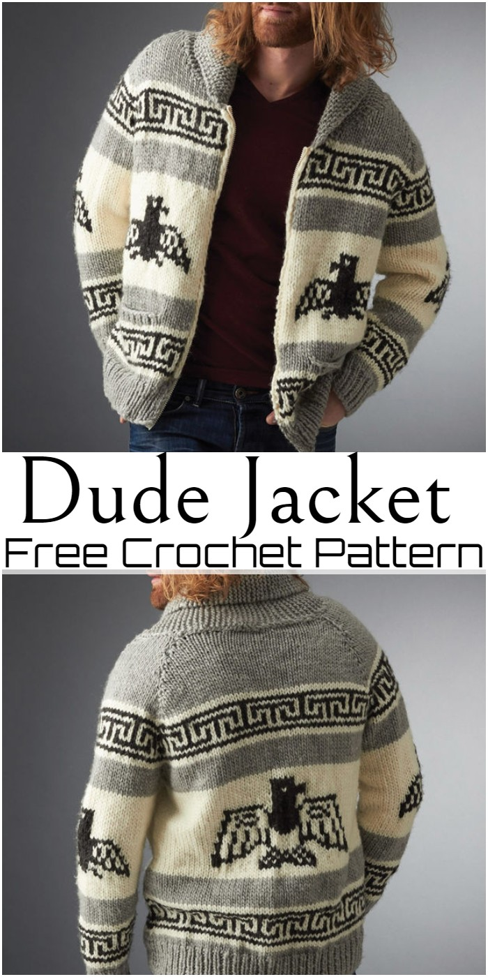 Crochet Dude Jacket Pattern