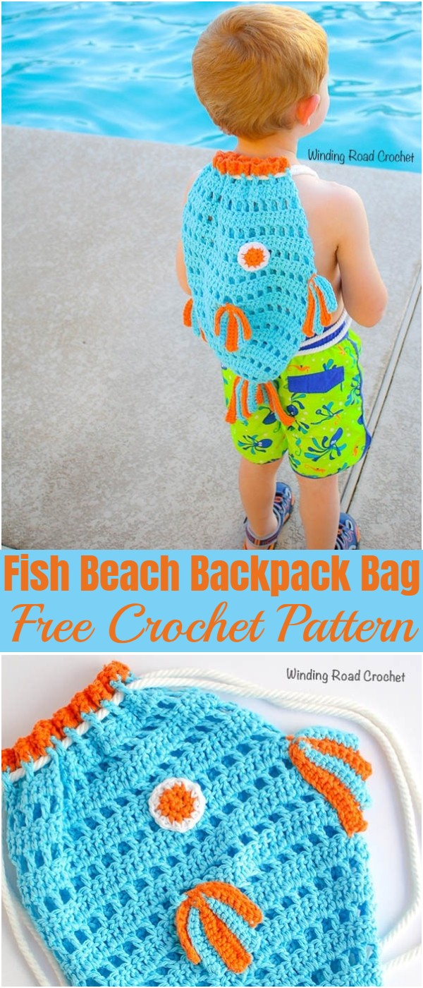 Crochet Fish Beach Backpack Bag Pattern