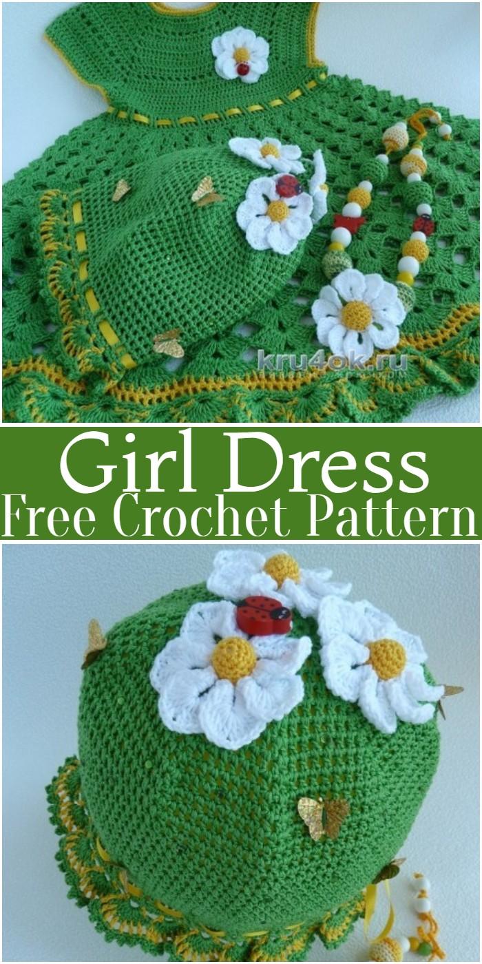 Crochet Girl Dress Pattern