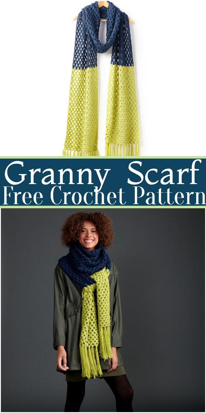 Crochet Granny Scarf Pattern