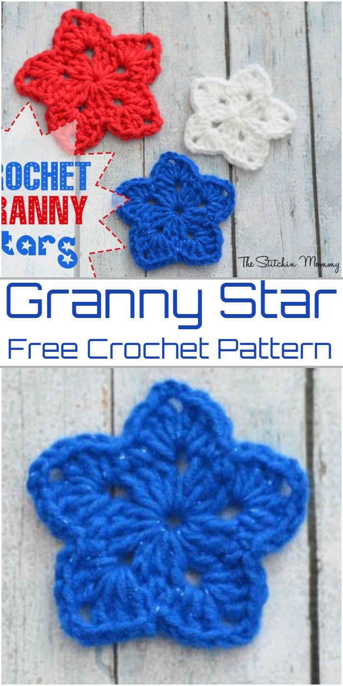 Crochet Granny Star Pattern