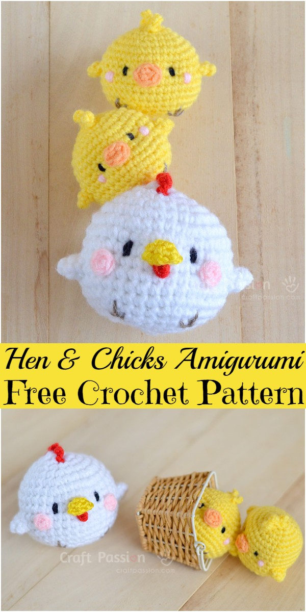 Crochet Hen & Chicks Amigurumi