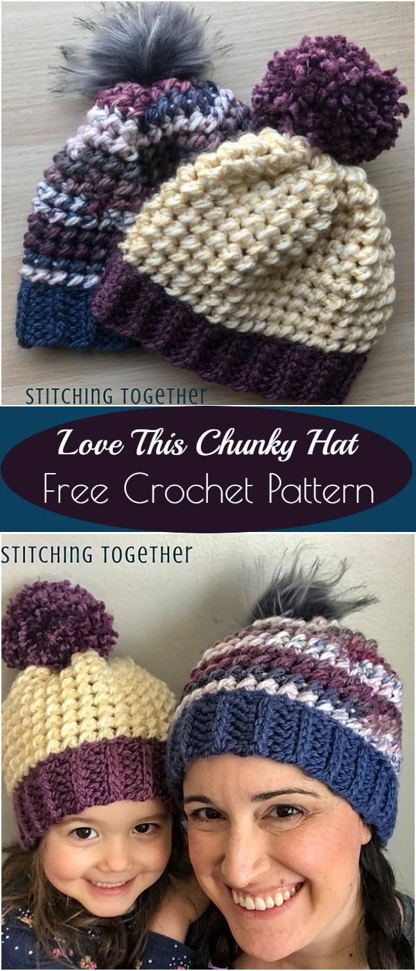 Crochet Love This Chunky Hat