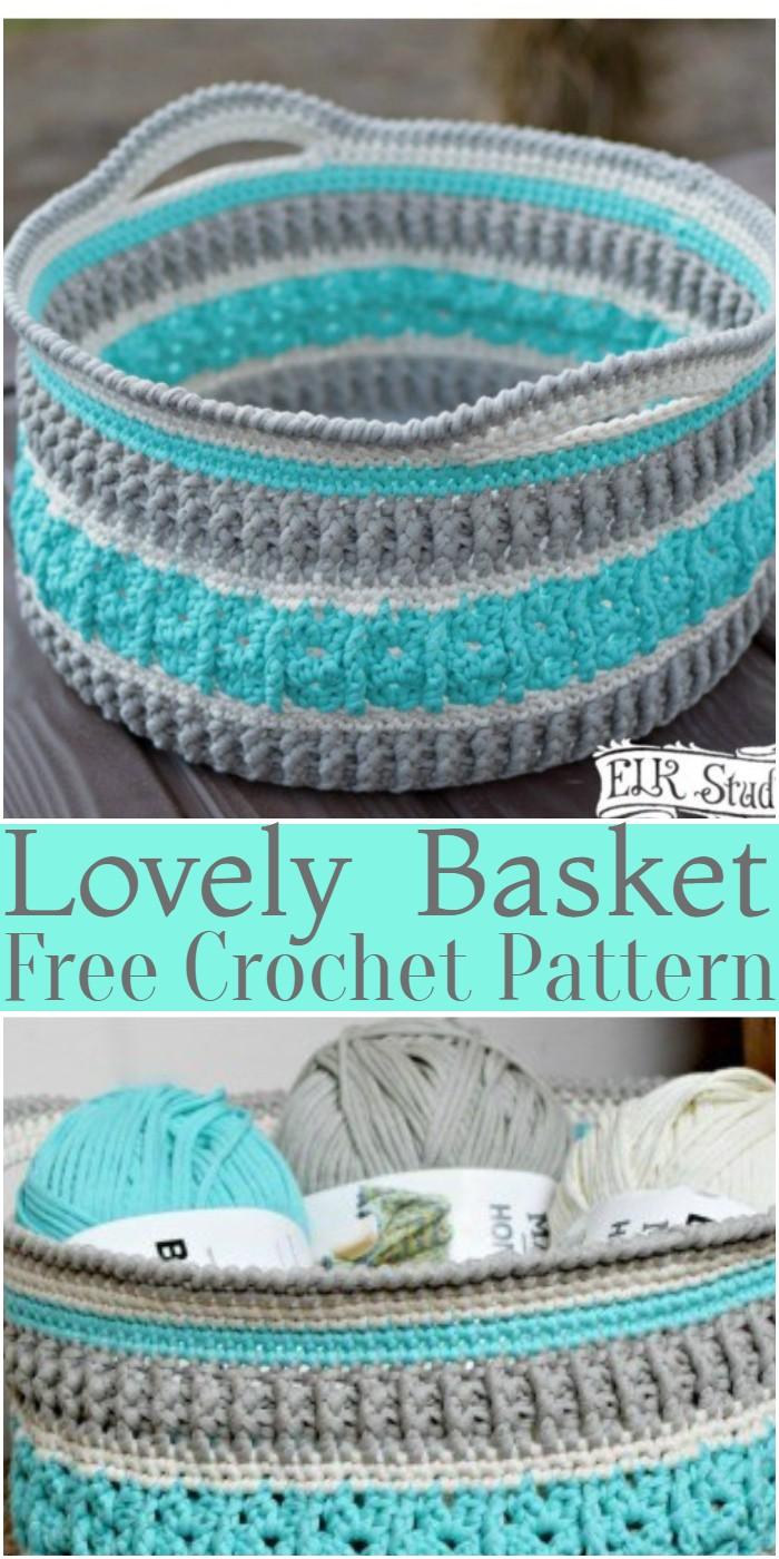 Crochet Lovely Basket Pattern