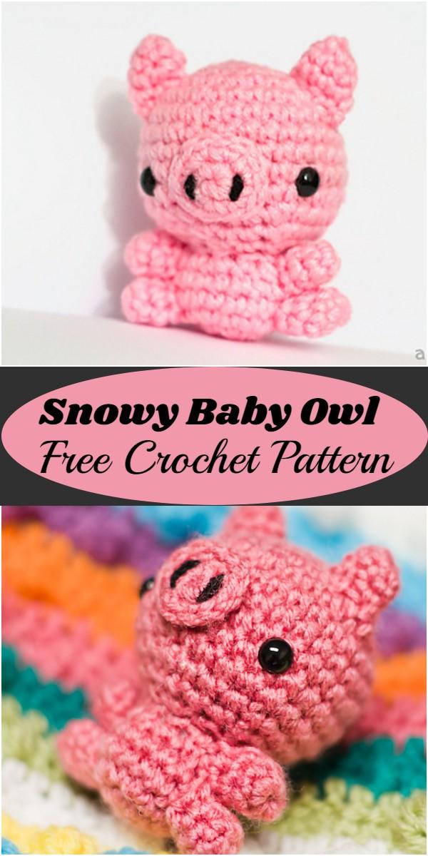 Crochet Mini Pig Amigurumi