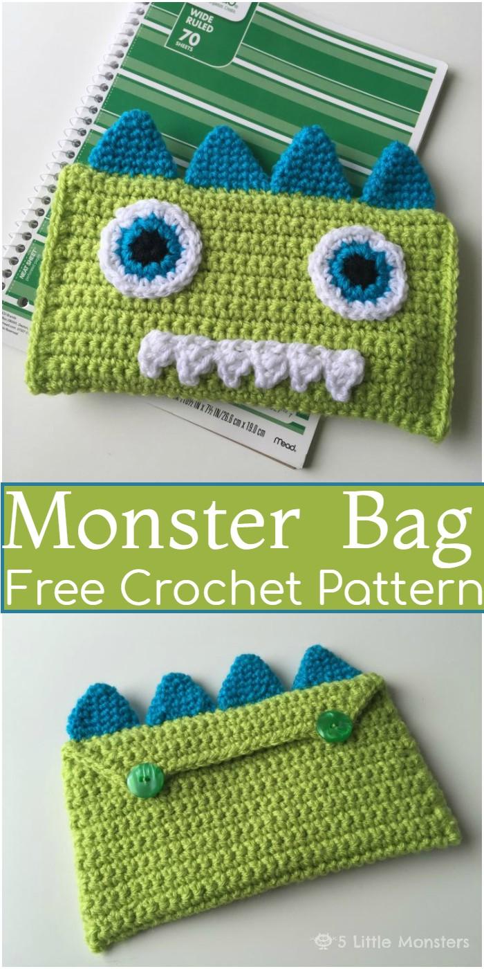 Crochet Monster Bag Pattern