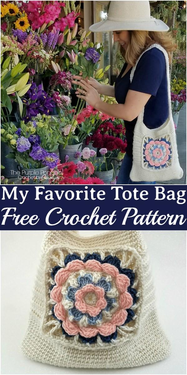 Crochet My Favorite Tote Bag Pattern