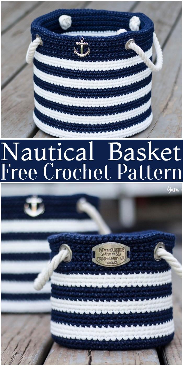 Crochet Nautical Basket