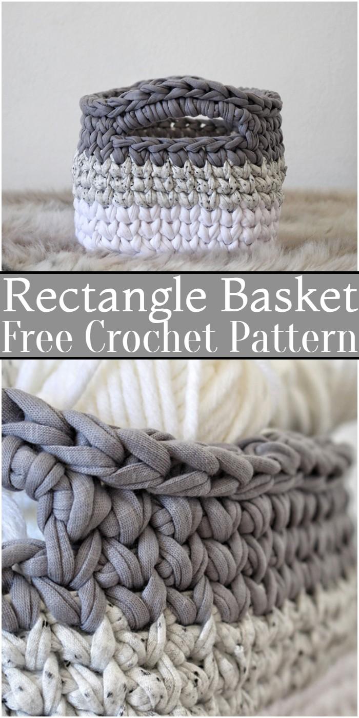 Crochet Rectangle Basket Pattern