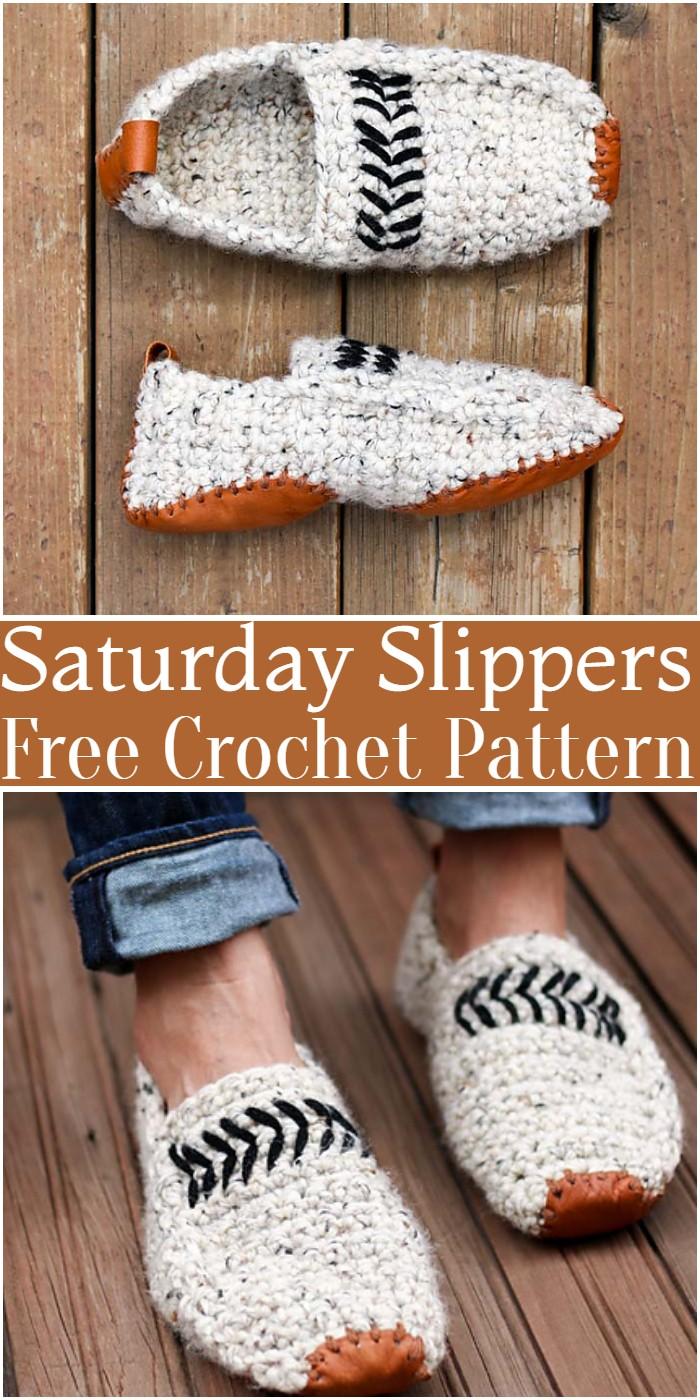 Crochet Saturday Slippers Pattern