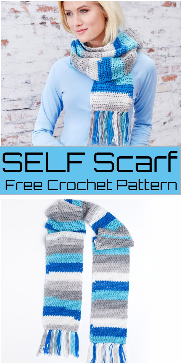 Crochet Self Scarf Pattern