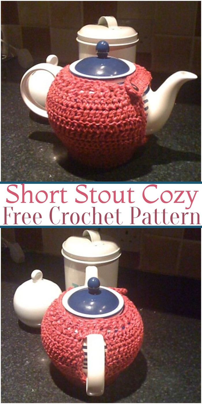 Crochet Short Stout Teapot Cozy Pattern