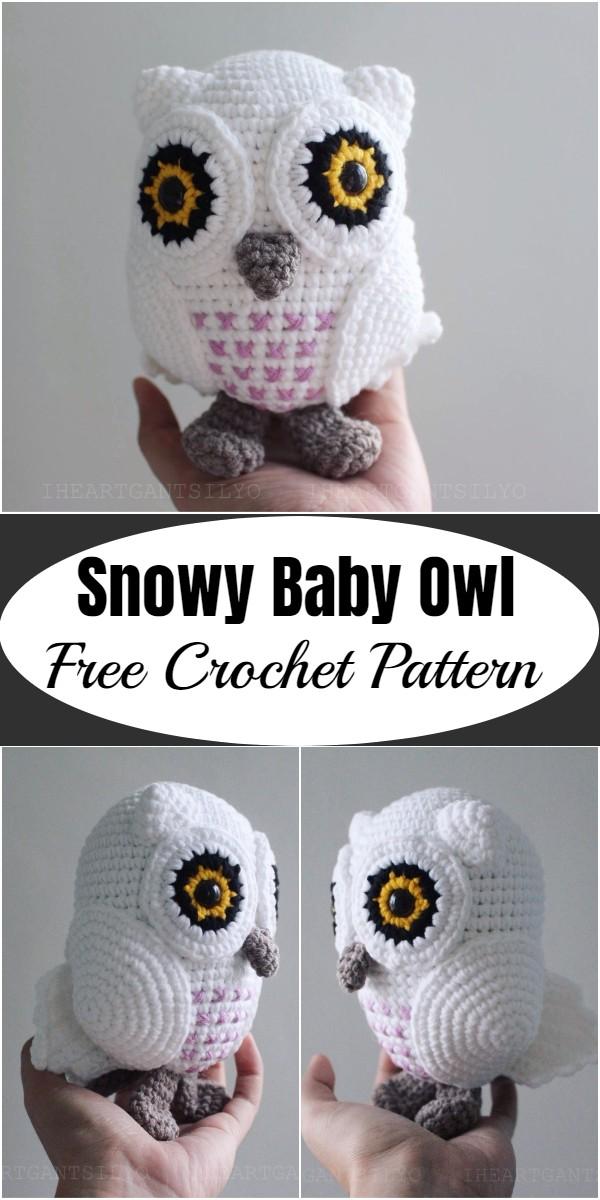 Crochet Snowy Baby Owl