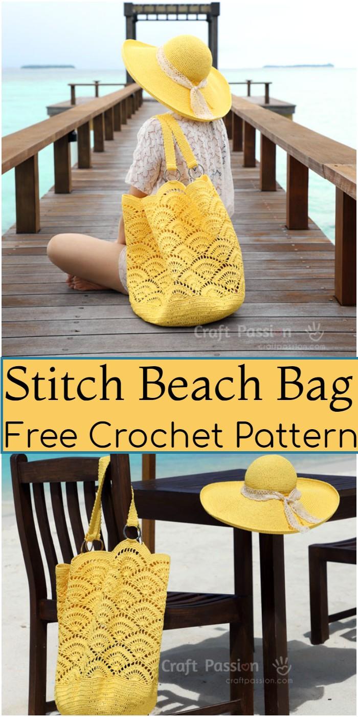 Crochet Stitch Beach Bag Pattern