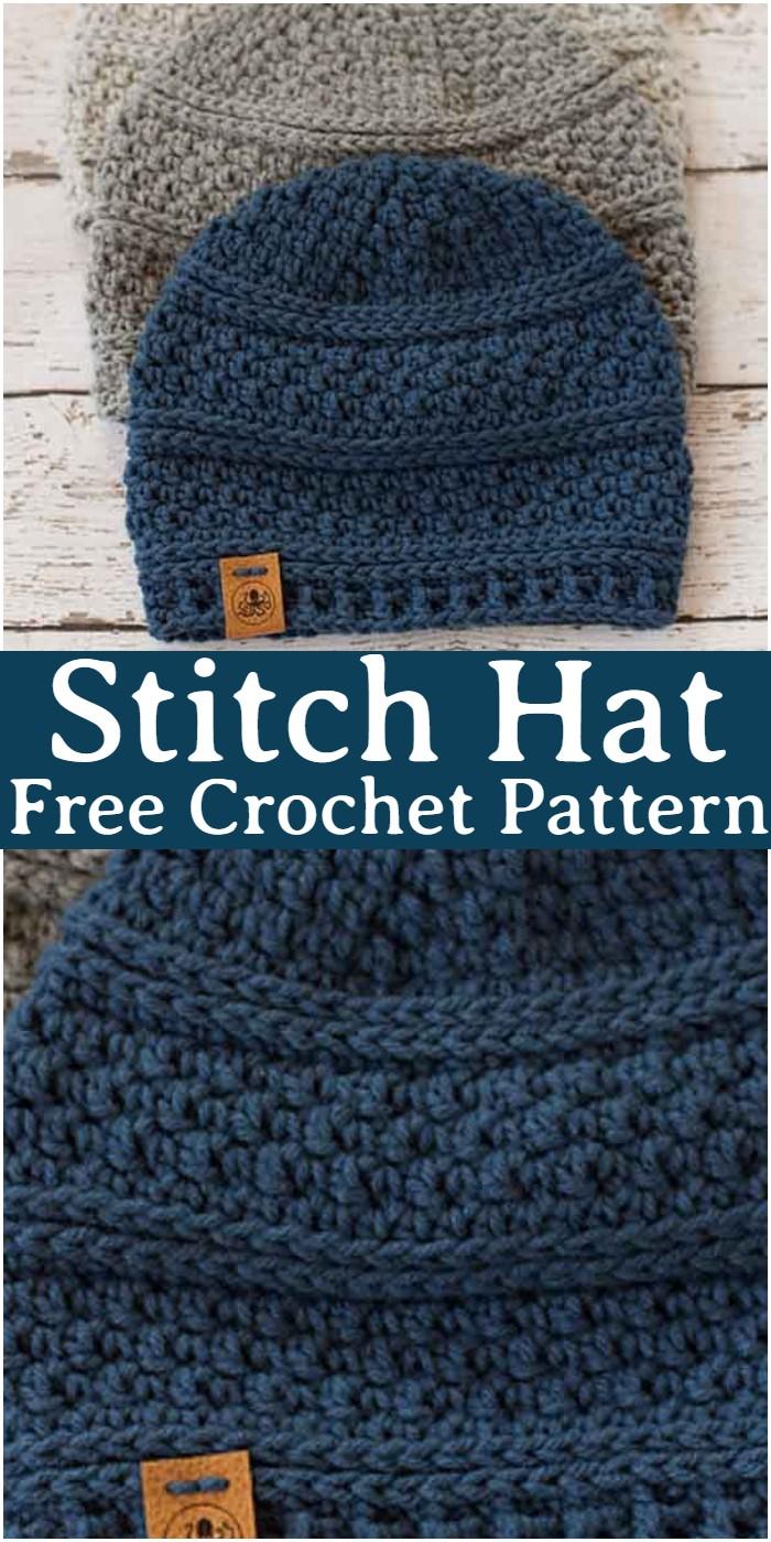 Crochet Stitch Hat Pattern
