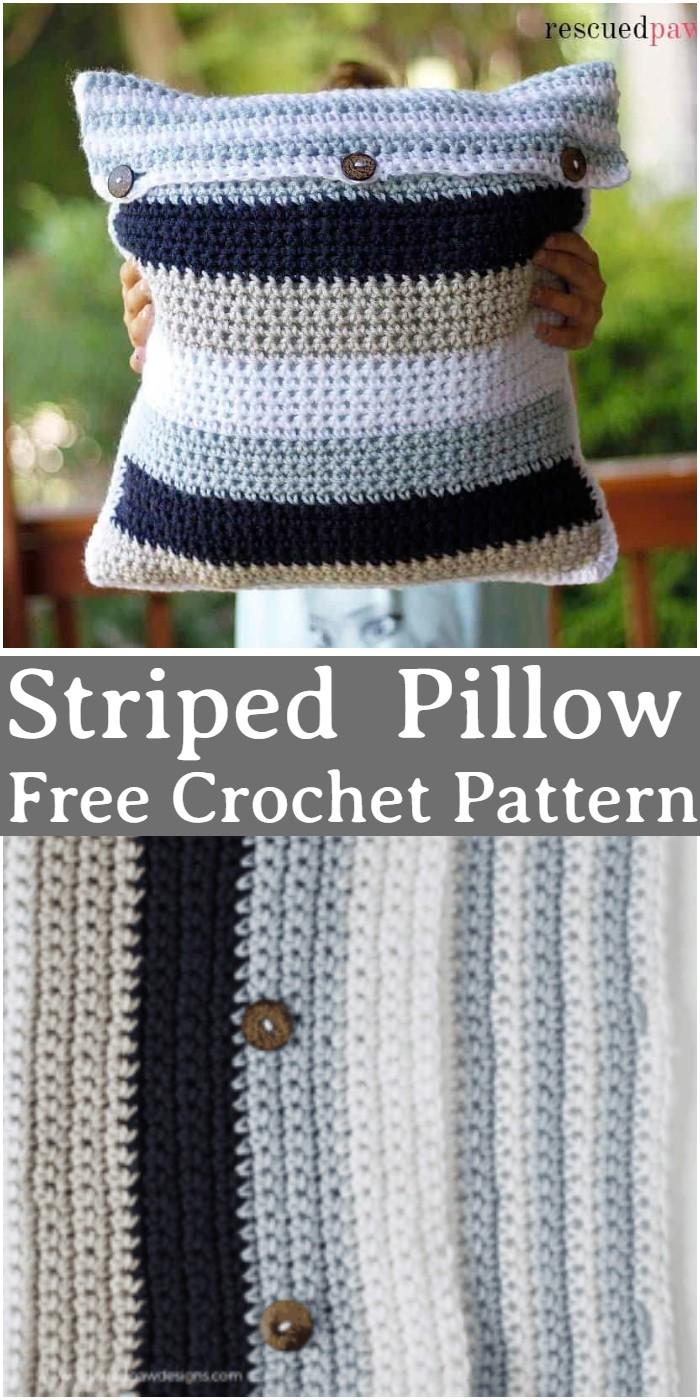 Crochet Striped Pillow Pattern
