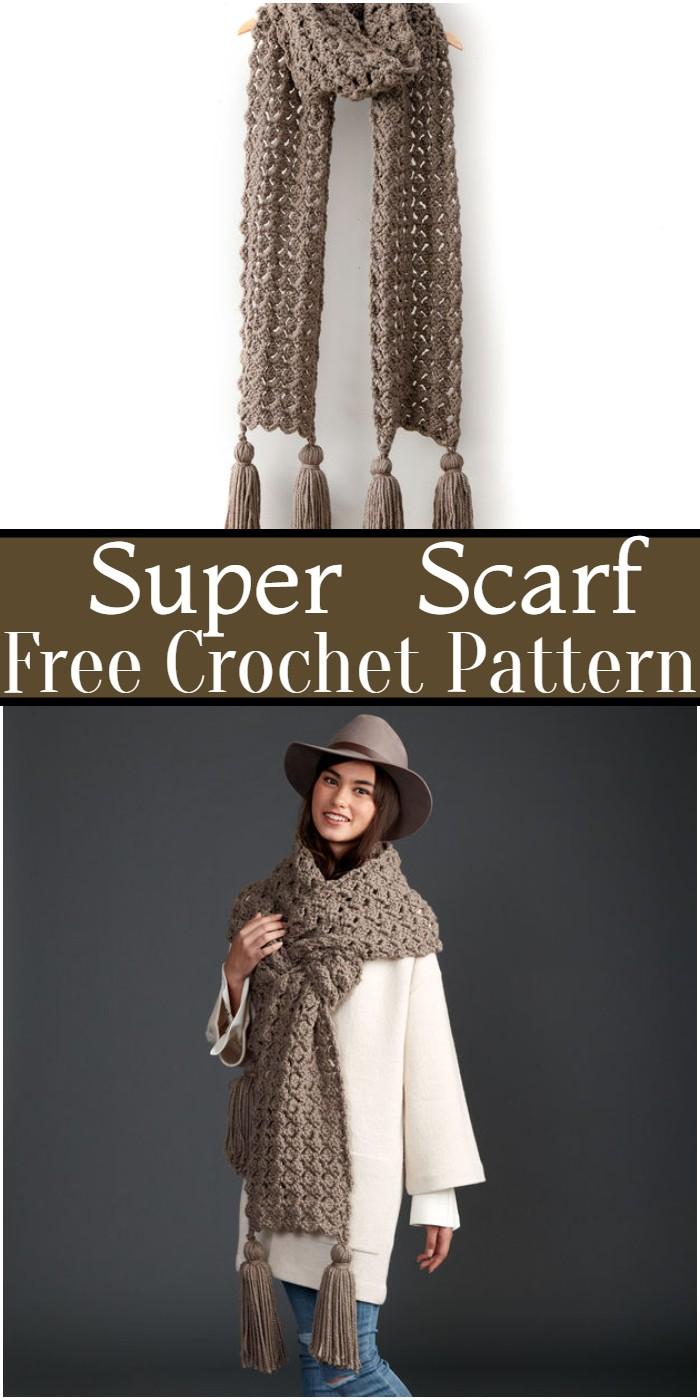 Crochet Super Scarf Pattern