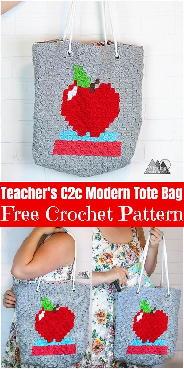 Crochet Teacher's C2c Modern Tote Bag