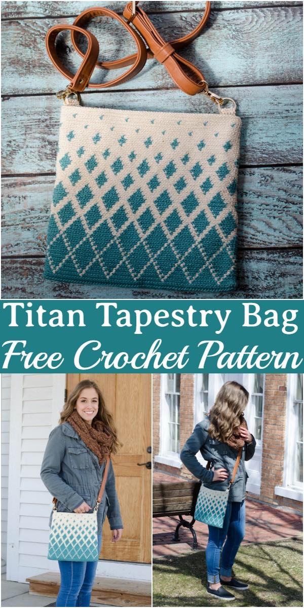 Crochet Titan Tapestry Bag Pattern