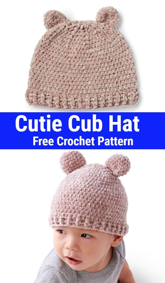 Cutie Cub Crochet Hat
