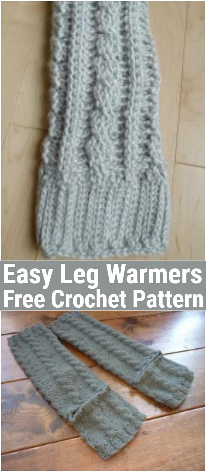 Easy Leg Warmers Crochet Pattern