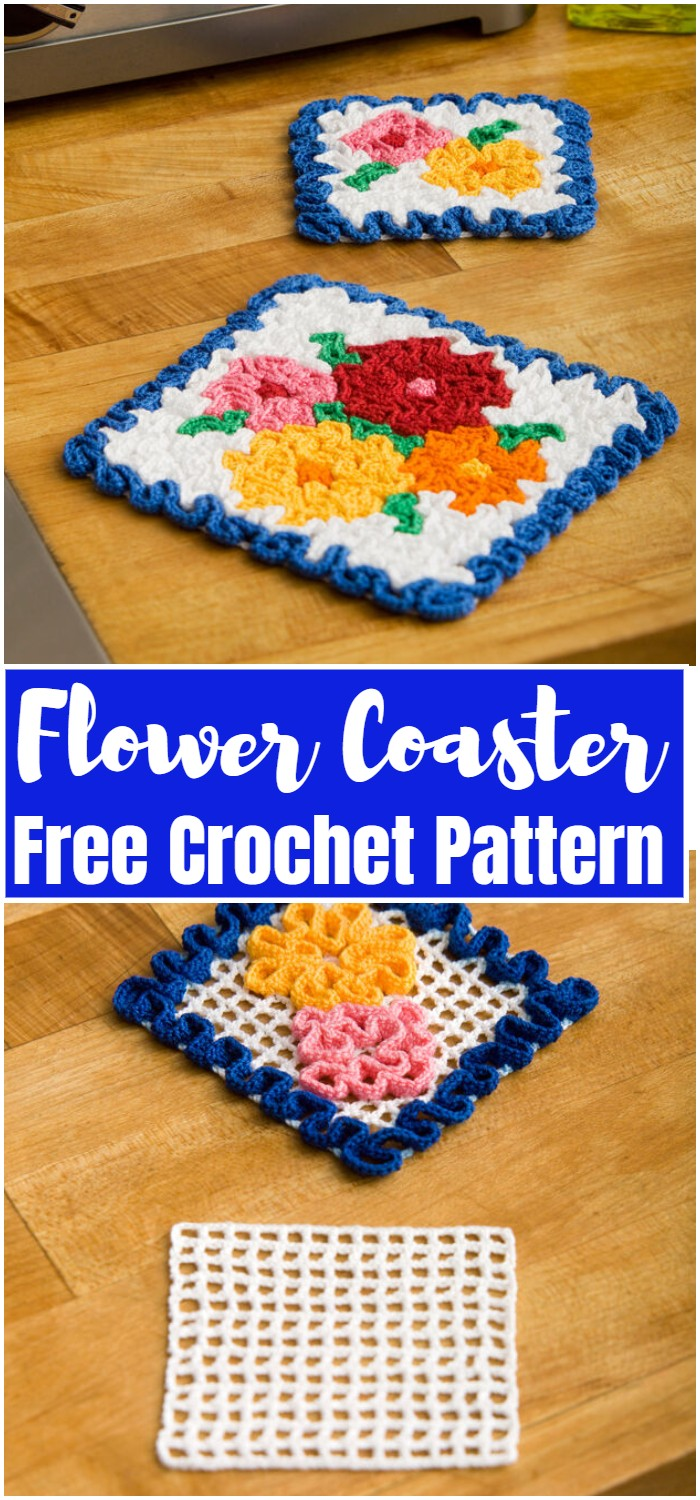 Flower Crochet Coaster