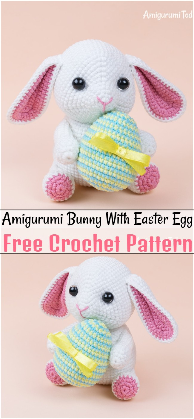 Free Crochet Amigurumi Bunny Pattern With Easter Egg