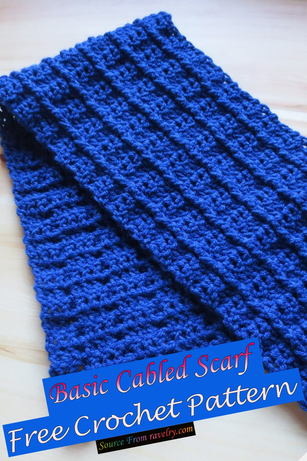 Free Crochet Basic Cabled Scarf Pattern