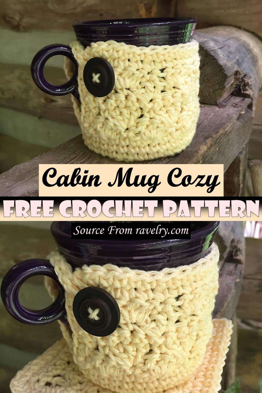 Free Crochet Cabin Mug Cozy Pattern