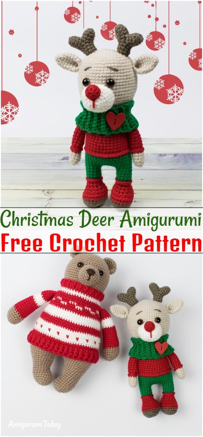 Free Crochet Christmas Deer Amigurumi Pattern