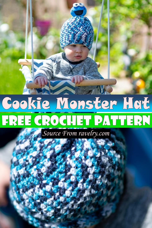 Free Crochet Cookie Monster Hat Pattern