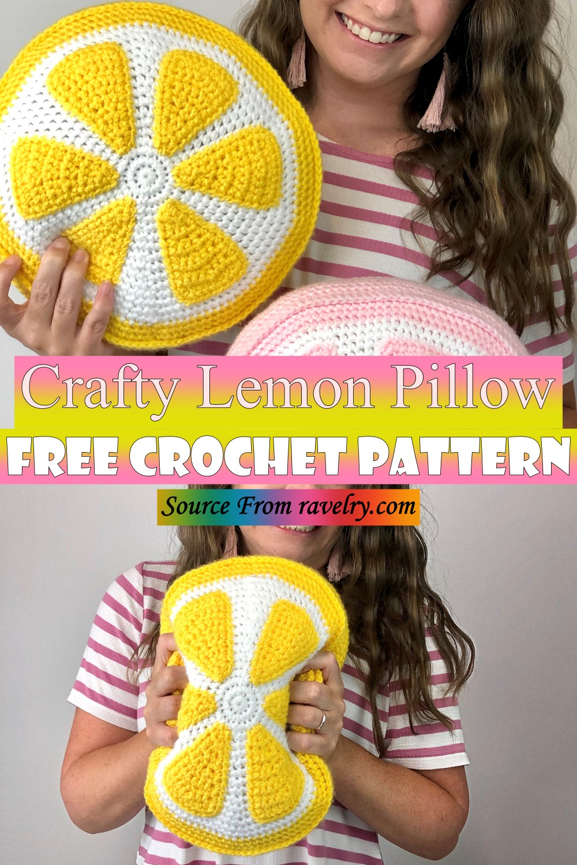 Free Crochet Crafty Lemon Pillow Pattern