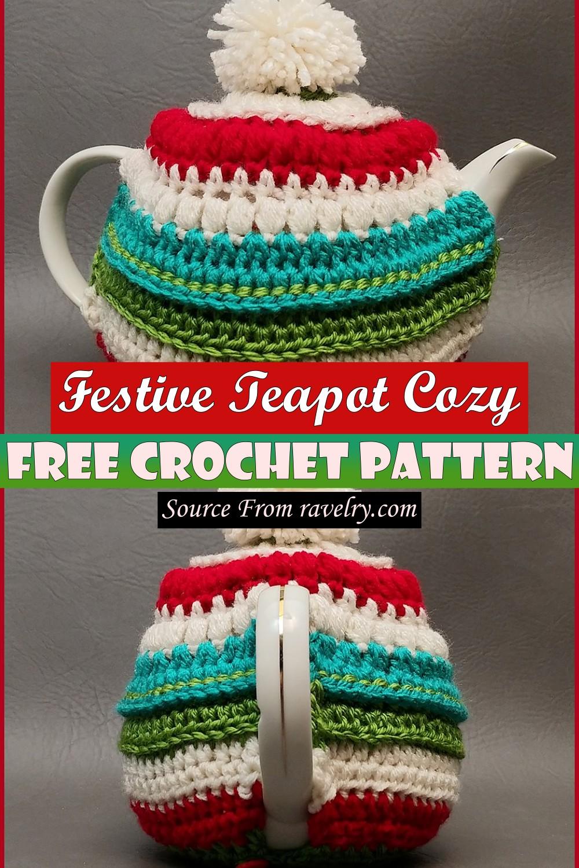 Free Crochet Festive Teapot Cozy Pattern