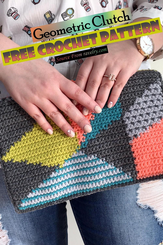 Free Crochet Geometric Clutch Pattern